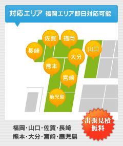 対応エリア福岡・山口・佐賀・熊本・長崎・大分・宮崎・鹿児島
